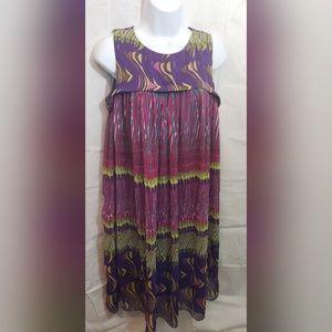 Women's Chetta B Multi Color Flowy Dress Size 8